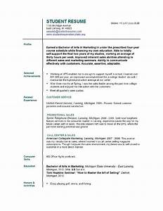 resumes for students with no experience With free student resume