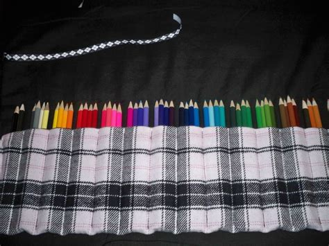 colored pencil organizer  roll  pouch sewing  cut