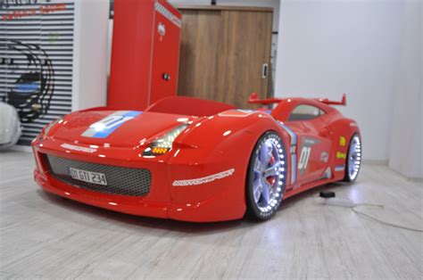 Thunder Red Race Car Bed | Racing Car Beds with LED Lights | Race car bed, Red race, Car bed