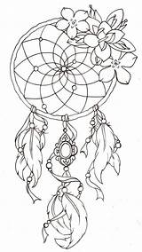Coloring Indian Pages Dreamcatcher sketch template