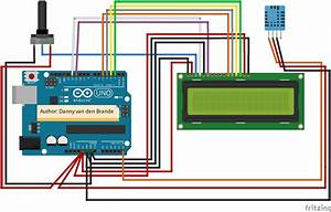 Arduino - Temp And Humidity Dht11   Lcd 1602a