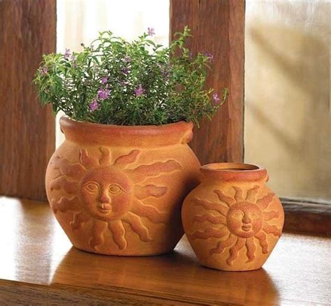 flower pots terra cotta southwestern ceramic planters