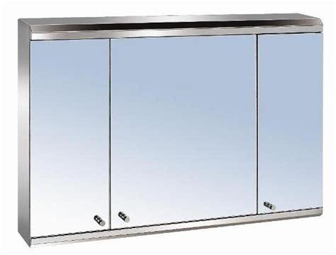 Luxury 3 Door Stainless Steel Bathroom Mirror Cabinet