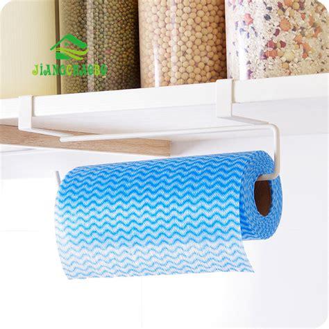 hook type kitchen roll paper towel holder storage rack