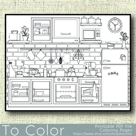 kitchen for adults printable kitchen coloring page for adults pdf jpg by