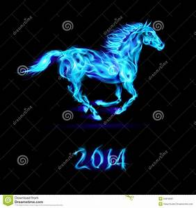 New Year 2014: fire horse. stock vector. Illustration of ...