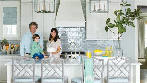 how to add a kitchen island 11 beautiful blue kitchens coastal living