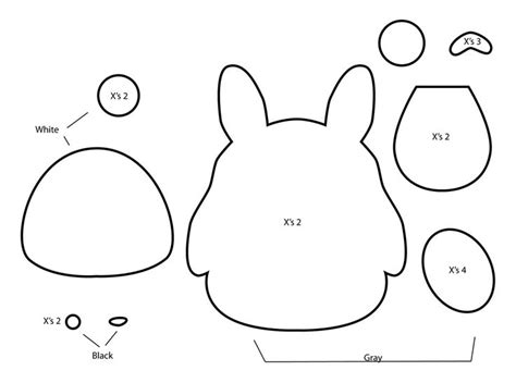Felt Plushie Templates by How To Make A Totoro Plushie From Felt Template Tutorial