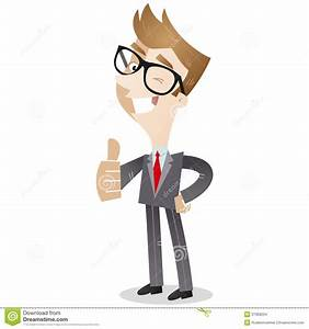 Smiling Business Giving The Thumbs Up Stock Vector ...