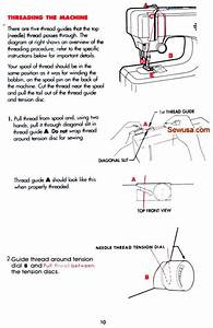 Singer Tiny Tailor 700 Sewing Machine Threading Diagram
