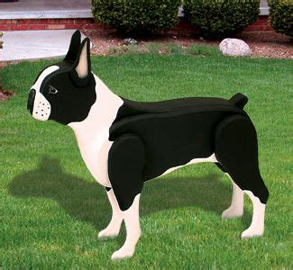 life size boston terrier woodcraft pattern decorate