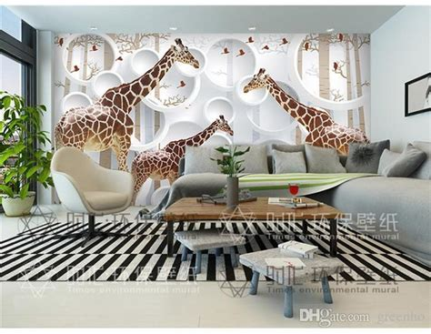 Animal Wallpaper For Walls - unique 3d view giraffe photo wallpaper animal wall