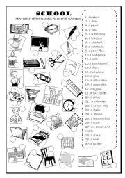 classroom objects worksheets