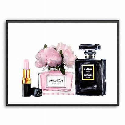 Chanel Dior Miss Poster Noir Perfume Lipstick