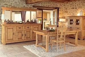 salle a manger chene campagnarde meubles notre catalogue With salle À manger campagnarde pour petite cuisine Équipée