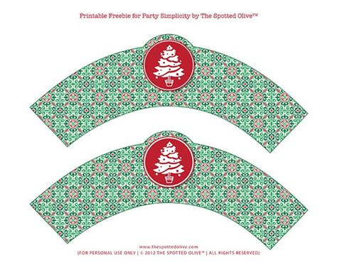 christmas templates freebies christmas cupcake wrappers printable freebie by the