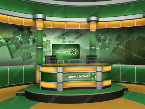 Sport studio background is a news virtual set made for