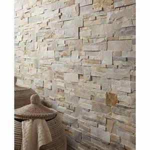 plaquette de parement elegance en pierre naturelle beige With faux parquet leroy merlin