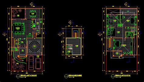 gambar kerja desain rumah tinggal xm file dwg kaula