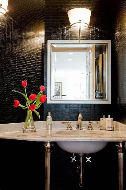 Powder Leather Interior Bathroom Walls Traditional Bath