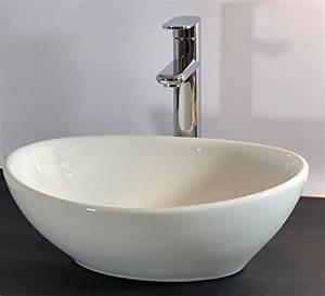 Waschbecken Kleines Gaeste Wc : kleines keramik aufsatz waschbecken oval g ste wc 40x32cm ~ Frokenaadalensverden.com Haus und Dekorationen
