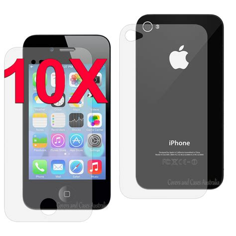 iphone 4s screen protector 10 x clear front and back lcd screen protector for apple