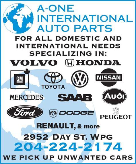 Aone International Auto Parts  Springfield, Mb 2952