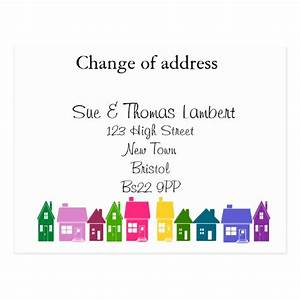change of address cards change of address card templates With change of address announcement cards