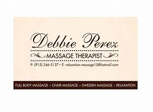 Massage therapist business card samples ideas for Massage therapy business cards examples