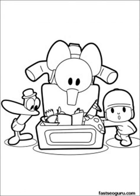 printable coloring sheet pocoyo pato elly play  toys  kids coloring pages printable