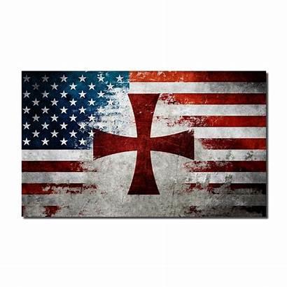 Flag Crusader American Decal Warrior Patriotic Quick