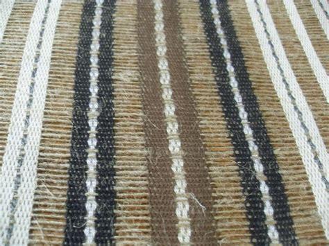 masculine textured linen open weave woven stripe drapery