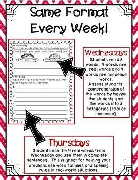 2nd grade word work activities weekly free sle tpt
