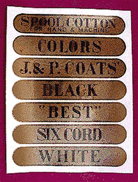 Antique Spool Cabinet Decals by Clark Spool Cabinet Decals