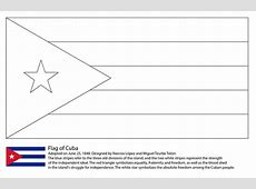 Flag of Cuba coloring page Free Printable Coloring Pages