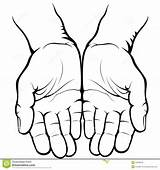 Open Empty Vector Hands Clip Cupped Hand Clipart Palms Illustration Template Pages Drawing Jesus Sketch Giving Coloring Closed Beg Background sketch template