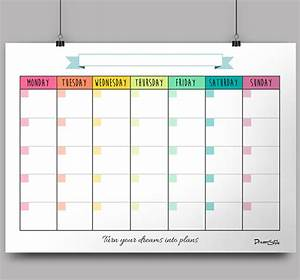 calendar monthly planner free printable on behance With monthly organiser template