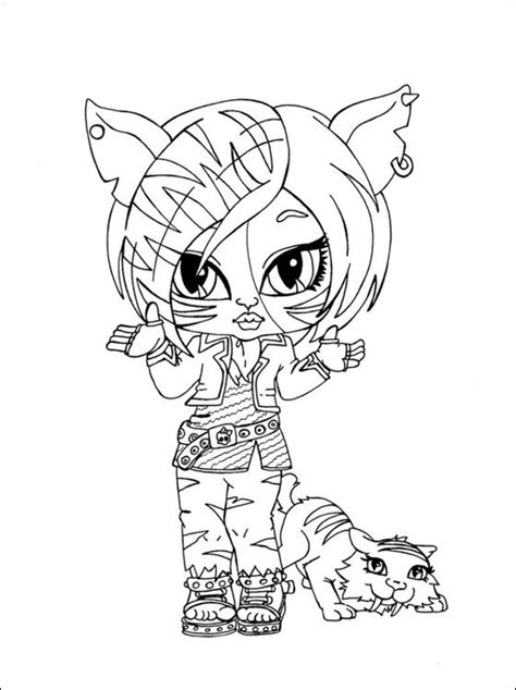 monster high toralei coloring pages toralei stripe