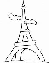 Tower Coloring French Eiffel Famous sketch template