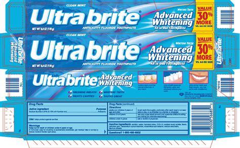 Colgate UltraBrite Advanced Whitening Anticavity Fluoride ...