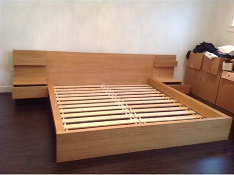 Bed Frame With Attached Nightstands by Ikea Malm Double Size Bed With Two Night Stands Mattress