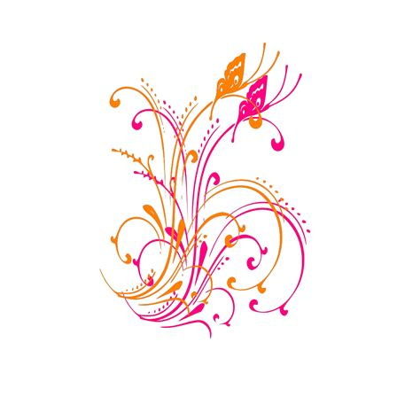 butterfly scroll png svg clip art  web  clip