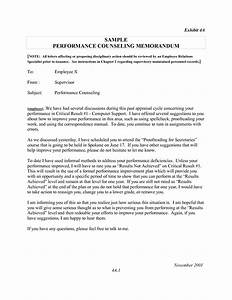 letter counseling example disciplinary memo resume With counseling memo template