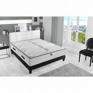 Matelas Plus Sommier : hotel luxe ensemble matelas sommier 160x200 cm 792 ressorts et mousse 25kg m3 ferme 2 ~ Teatrodelosmanantiales.com Idées de Décoration