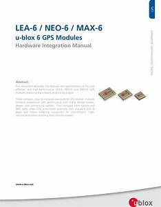 Lea 6 Neo Max Hardware Integration Manual  Gps G6 Hw 09007 H