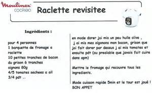 astuces cuisine rapide raclette revisitée recettes cookeo
