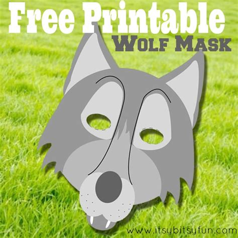 wolf mask template free printable wolf mask template itsy bitsy