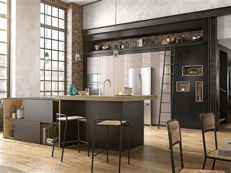 mettez du noir dans la cuisine joli place
