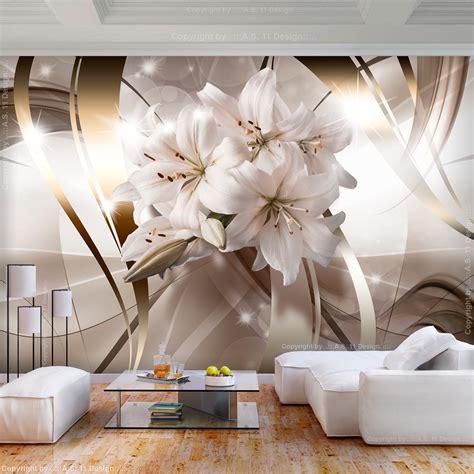 Fototapete 3d Wohnzimmer by Vlies Fototapete Blumen Lilien Wei 223 3d Effekt Tapete