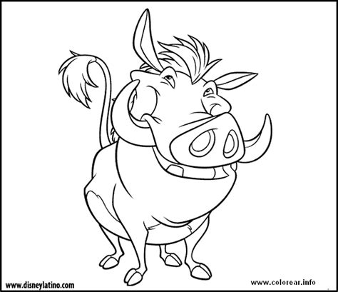 disegni da colorare disney re pumba the king printable coloring pages for